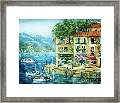 Le Port Framed Print by Marilyn Dunlap