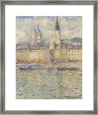 Le Port Rouen Framed Print by MotionAge Designs