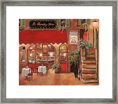 Le Rendez Vous Framed Print by Guido Borelli