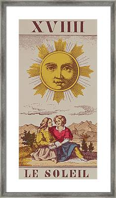 Le Soleil Framed Print by French School