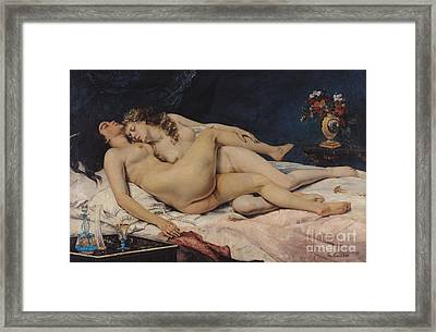 Le Sommeil Framed Print by Gustave Courbet