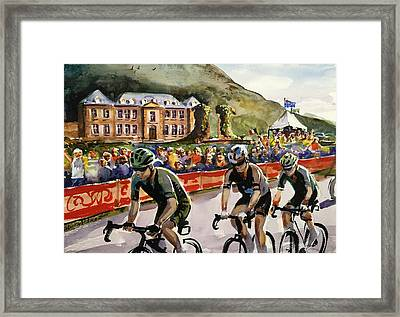 Le Tour - Chateau De Gudanes Framed Print by Shirley Peters