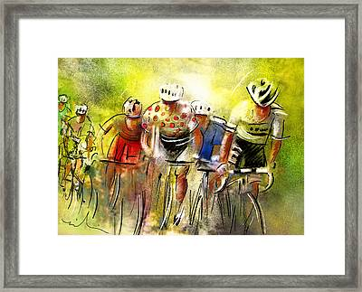 Le Tour De France 07 Framed Print by Miki De Goodaboom