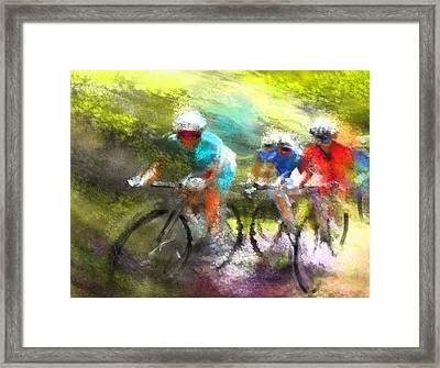 Le Tour De France 11 Framed Print by Miki De Goodaboom