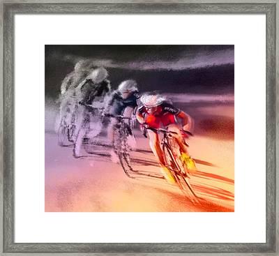 Le Tour De France 13 Framed Print by Miki De Goodaboom