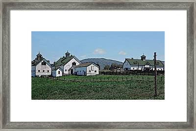 Lea Homestead Framed Print by DigiArt Diaries by Vicky B Fuller
