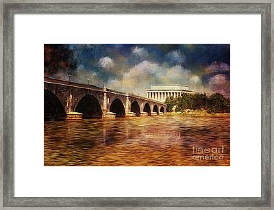 Leading To Lincoln Framed Print by Lois Bryan