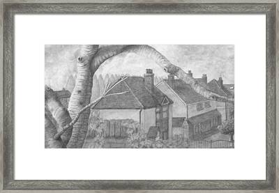 A Leafy Street Framed Print by Stevie the floating artist