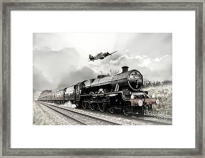 Leander And Hurricane Framed Print by J Biggadike