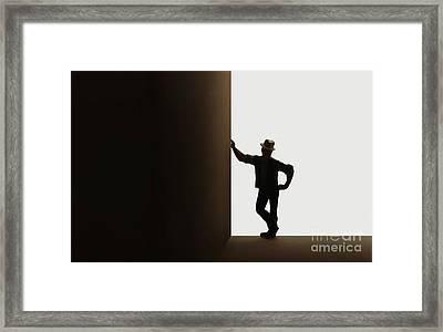 Leaner Framed Print by Dan Holm