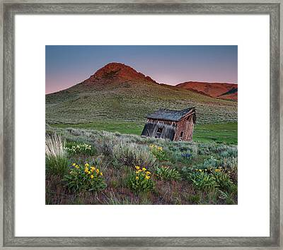 Leaning Shed 2 Framed Print by Leland D Howard