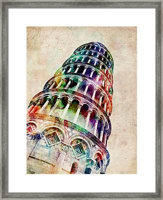 Leaning Tower Of Pisa Framed Print by Michael Tompsett