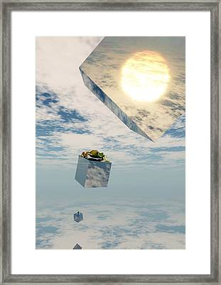 Leaps And Bounds Framed Print by Richard Rizzo