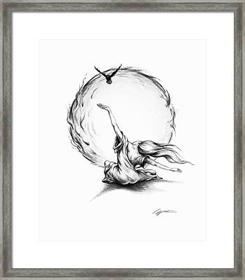 Learning To Fly Framed Print by Lucy West