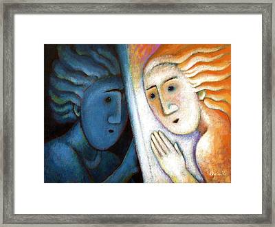Learning To Love Myself Framed Print by Angela Treat Lyon