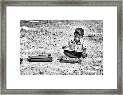 Learning To Write Framed Print by Tim Gainey