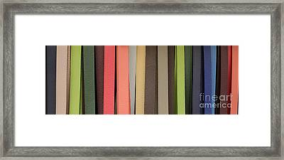 Leather Belts Florence Italy Framed Print by Edward Fielding