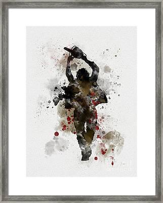 Leatherface Framed Print by Rebecca Jenkins