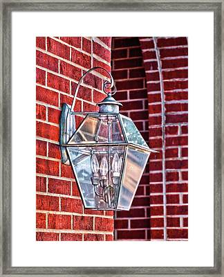 Leave The Light On Effie Framed Print by Brenda Bryant