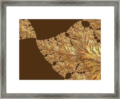 Leaves Of Gold Framed Print by Susan Maxwell Schmidt