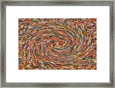 Leaves Playing Roulette Framed Print by Nick David