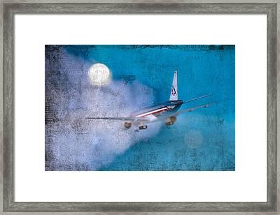 Leavin' On A Jet Plane Framed Print by Rebecca Cozart