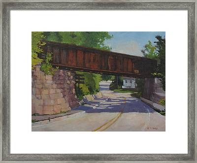 Leaving Hallowell Framed Print by Bill Tomsa