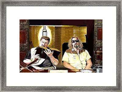 Lebowski  Mortuary Framed Print by Johnee Fullerton