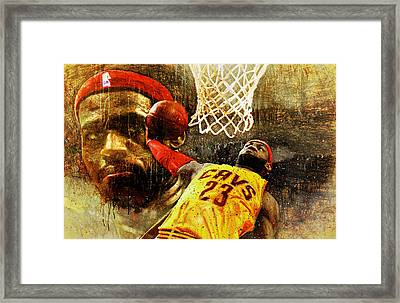 Lebron Sets The Tone Framed Print by John Farr