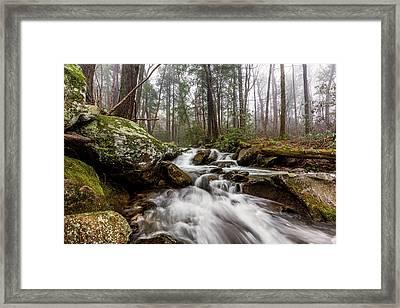 Leconte Creek Framed Print by Everet Regal