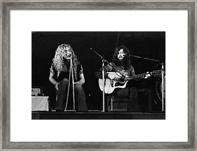 Led Zeppelin 1971 Acoustic Framed Print by Chris Walter