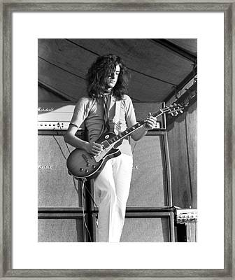 Led Zeppelin Jimmy Page '69 Framed Print by Chris Walter