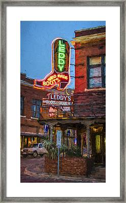 Leddy's Boots Framed Print by Joan Carroll