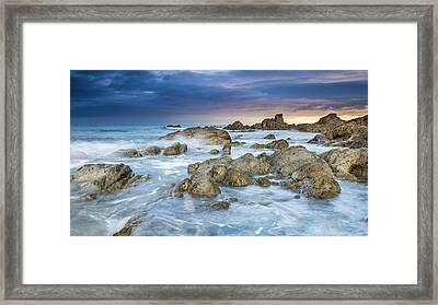 Lee Bay Framed Print by Sebastian Wasek