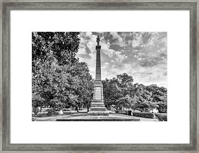 Lee Square Black And White Framed Print by JC Findley