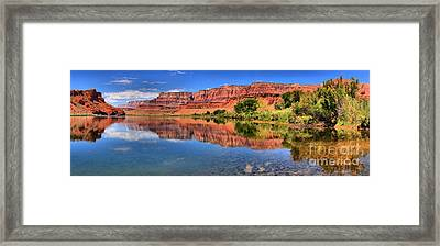 Lees Ferry Panorama Framed Print by Adam Jewell
