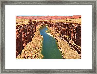 Lees Ferry River Canyon Framed Print by Adam Jewell