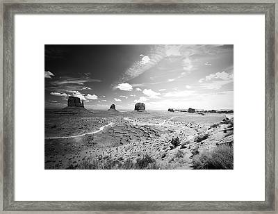 Left And Right Mittens And Merrick Butte Framed Print by Ryan Kelly