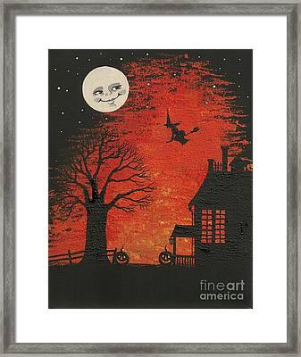 Legend Of Halloween Framed Print by Margaryta Yermolayeva