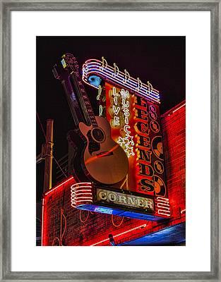 Legends Corner Nashville Framed Print by Stephen Stookey