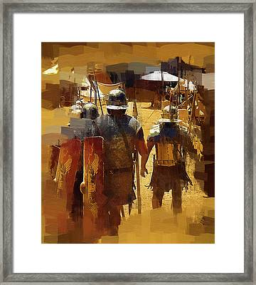 Legionnaires Marching To Camp Framed Print by Clarence Alford