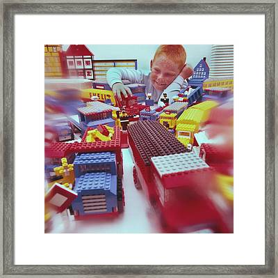 Lego-van Driver Framed Print by Manfred Lutzius