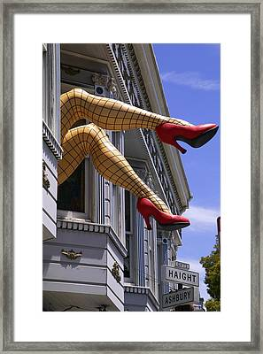 Legs Haight Ashbury Framed Print by Garry Gay