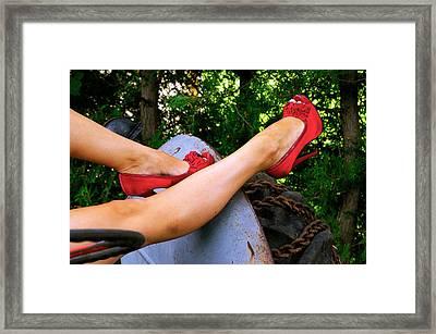 Legs Framed Print by Paul Wash