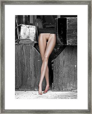 Legs Framed Print by Robert Sako