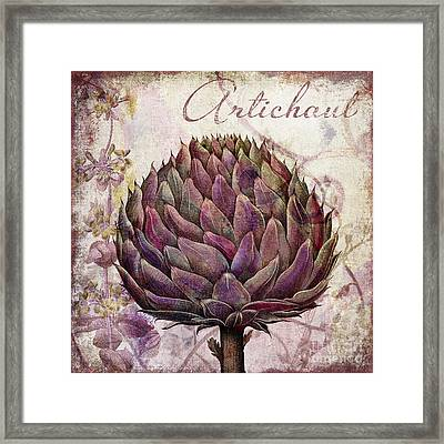 Legumes Francais Artichoke Framed Print by Mindy Sommers