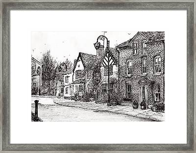 Leigh Arms Prestbury Framed Print by Vincent Alexander Booth