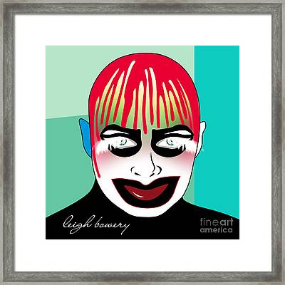 Leigh Bowery Framed Print by Mark Ashkenazi