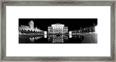 Leipzig Panorama Framed Print by Marc Huebner