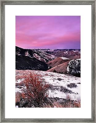 Lemhi Pass Framed Print by Leland D Howard